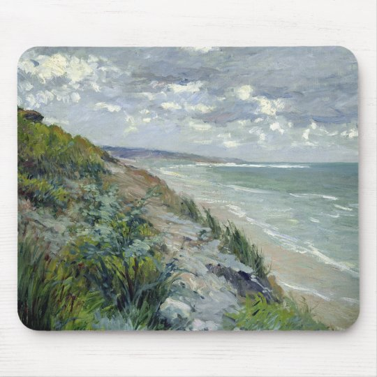 Cliffs by the sea at Trouville Mouse Pad