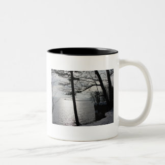 Cliffs in Marquette Two-Tone Coffee Mug