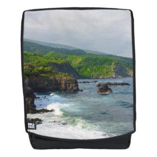 Cliffs in Maui Hawaii Backpack