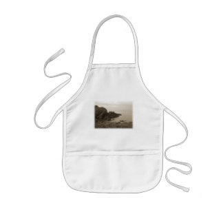 Cliffs in sepia color. On White Background. Aprons