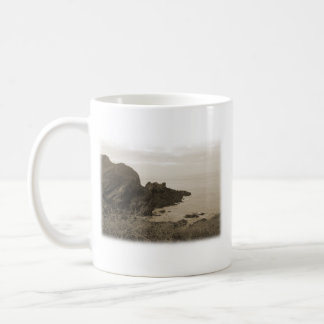 Cliffs in sepia color. On White Background. Coffee Mug