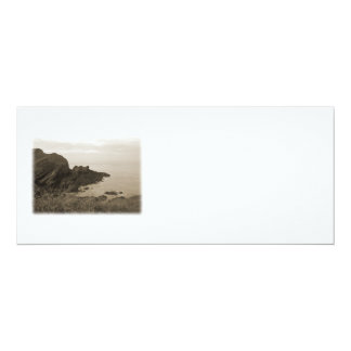 Cliffs in sepia color. On White Background. 4x9.25 Paper Invitation Card