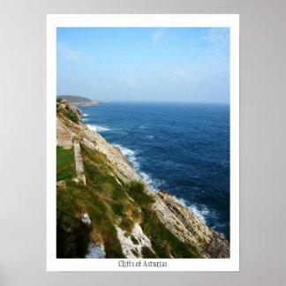 Cliffs of Asturias Poster