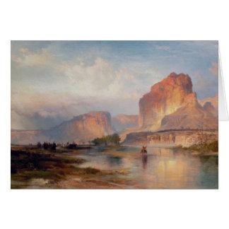 Cliffs of Green River - 1874 Card