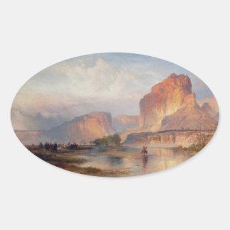 Cliffs of Green River - 1874 Oval Sticker