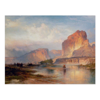 Cliffs of Green River - 1874 Postcard
