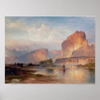 Cliffs of Green River - 1874 Poster