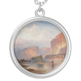 Cliffs of Green River - 1874 Round Pendant Necklace