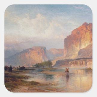 Cliffs of Green River - 1874 Square Sticker