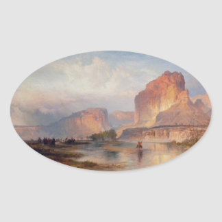 Cliffs of Green River - 1874 Oval Stickers