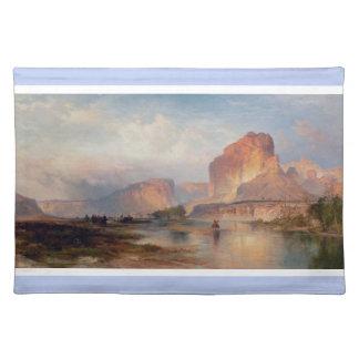 Cliffs of Green River - Thomas Moran (1874) Cloth Placemat