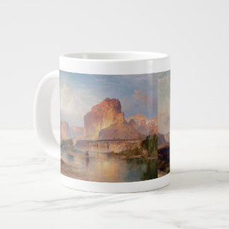 Cliffs of Green River - Thomas Moran (1874) Large Coffee Mug