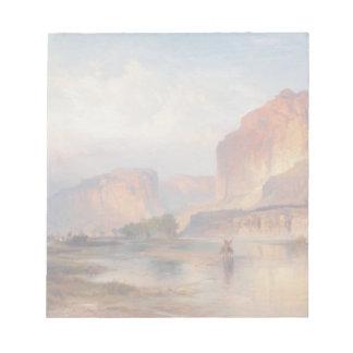Cliffs of Green River - Thomas Moran (1874) Memo Note Pad