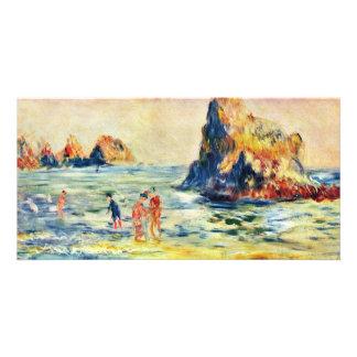 Cliffs Of Guernsey By Pierre-Auguste Renoir Custom Photo Card