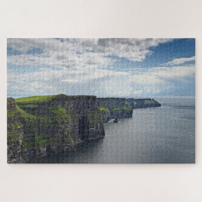 Cliffs of Moher County Clare Burren Ireland Wood Materials,29.5 X 19.6 Inch Entertainment Toys 1000 Piece Jigsaw Puzzle