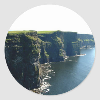 Cliffs of Moher  County Clare Ireland Classic Round Sticker