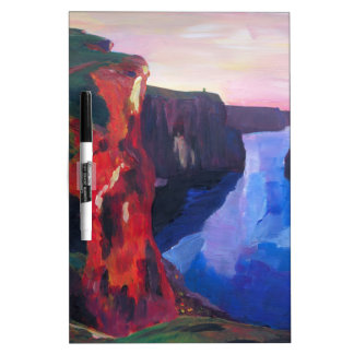 Cliffs of Moher in County Clare Ireland at Sunset Dry-Erase Board