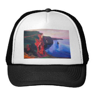 Cliffs of Moher in County Clare Ireland at Sunset Trucker Hat