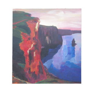 Cliffs of Moher in County Clare Ireland at Sunset Notepad