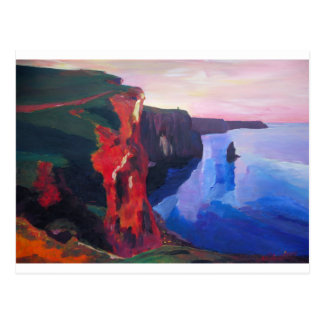 Cliffs of Moher in County Clare Ireland at Sunset Postcard