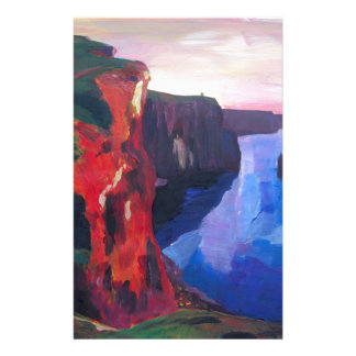 Cliffs of Moher in County Clare Ireland at Sunset Stationery