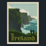 "Cliffs of Moher | Ireland Postcard<br><div class=""desc"">Anderson Design Group is an award-winning illustration and design firm in Nashville,  Tennessee. Founder Joel Anderson directs a team of talented artists to create original poster art that looks like classic vintage advertising prints from the 1920s to the 1960s.</div>"