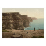 Cliffs Of Moher On Atlantic Coast Ireland Poster at Zazzle