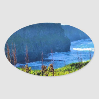 Cliffs of Moher Oval Sticker