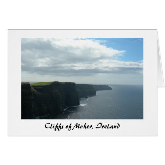 Cliffs of Moher (Title) Stationery Note Card
