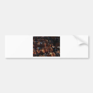 cliffs of the red rock of snow bumper sticker