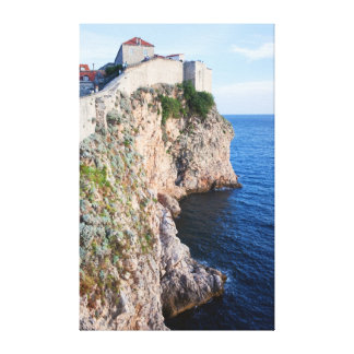 Cliffs on the Adriatic Sea Canvas Print