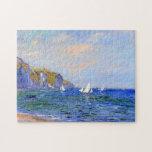 Cliffs & Sailboats at Pourville Monet Fine Art Puzzle