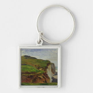Cliffs Silver-Colored Square Keychain