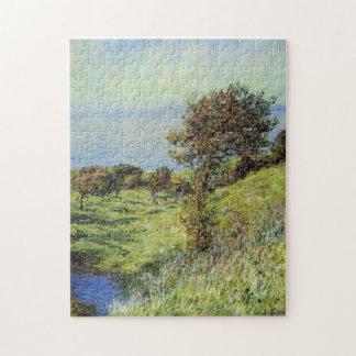 Cliffs Varengeville Gust of Wind Monet Fine Art Puzzle