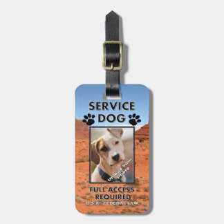 Cliffside Service Dog Photo ID Tag For Luggage