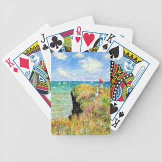 Clifftop Walk at Pourville by Claude Monet Bicycle Playing Cards