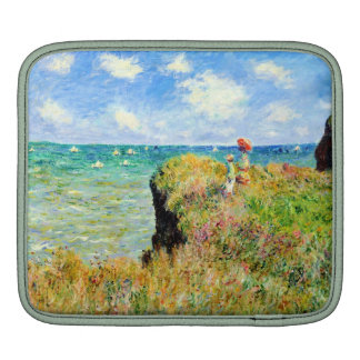 Clifftop Walk at Pourville by Claude Monet Sleeve For iPads