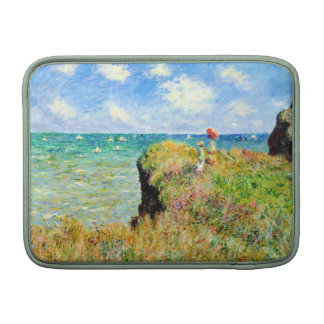 Clifftop Walk at Pourville by Claude Monet Sleeve For MacBook Air