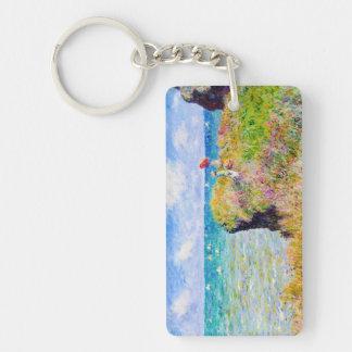 Clifftop Walk at Pourville Claude Monet Keychain