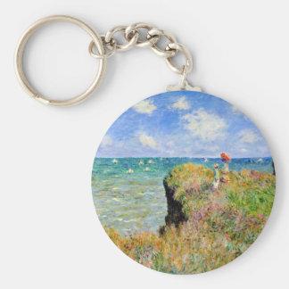 Clifftop Walk at Pourville - Claude Monet Keychain