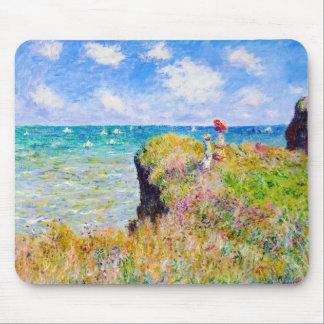 Clifftop Walk at Pourville Claude Monet Mouse Pad
