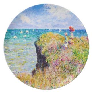 Clifftop Walk at Pourville Claude Monet Party Plate