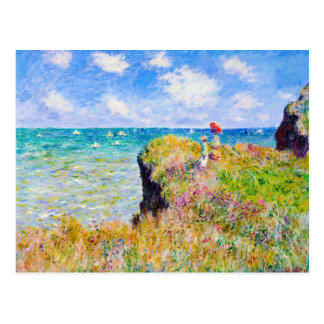 Clifftop Walk at Pourville Claude Monet Postcard