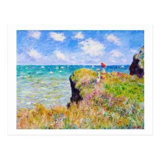 Clifftop Walk at Pourville Claude Monet Post Card