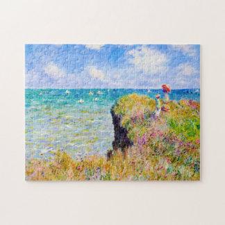Clifftop Walk at Pourville Claude Monet Jigsaw Puzzle