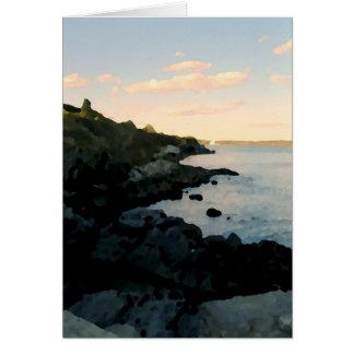 Cliffwalk, Newport, RI Stationery Note Card