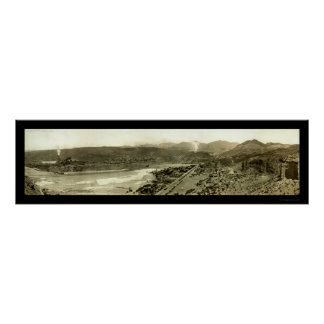 Clifton Smelter & Town Photo 1909 Poster