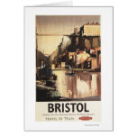 Clifton Suspension Bridge and Boats Greeting Card