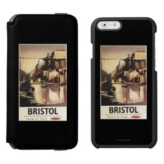 Clifton Suspension Bridge and Boats iPhone 6/6s Wallet Case