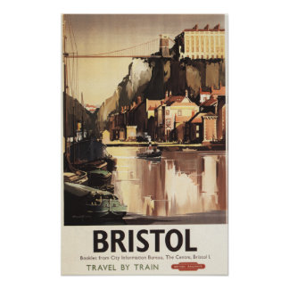 Clifton Suspension Bridge and Boats Poster